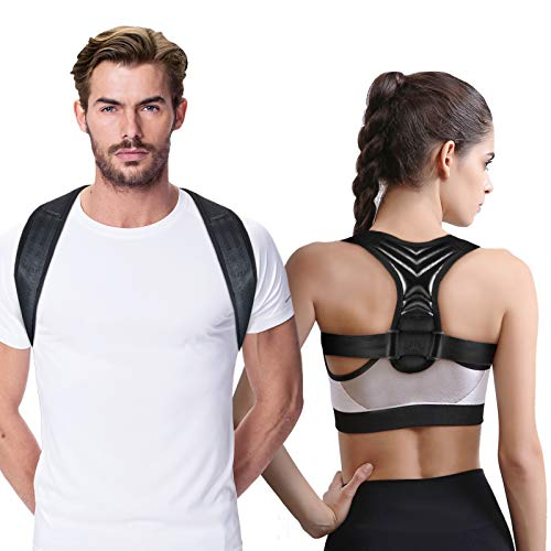 Posture Corrector for Women, iThrough Back Braces Posture Correction for Men, Adjustable Back Support Back Straightener Clavicle Support Brace for Neck Back and Shoulder (Chest Circumference 32-43In)