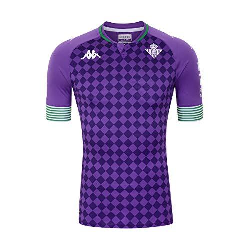 Kappa Segunda equipación Real Betis, Camiseta, Hombre, Morado/Verde, M