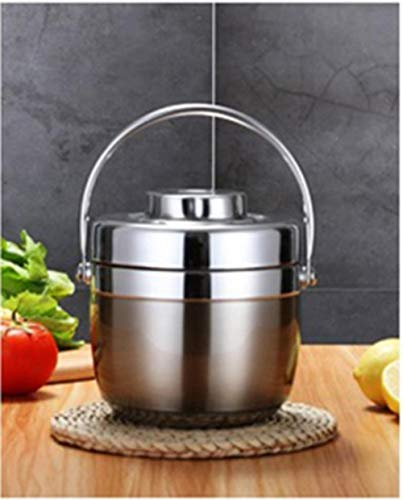 YEZINB 1.5L Edelstahl Lebensmittel Thermoskanne 6-12 Stunden Vakuum Lunchbox Thermobehälter Suppenglas Isolierte Thermoskanne, Farbe, Silber