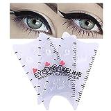 3 plantillas de plantillas de delineador de ojos reutilizables a prueba de manchas plantillas de delineador de ojos a prueba de agua guía de sombras de ojos ojos ahumados juego de herramientas de
