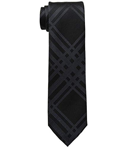Kenneth Cole Reaction Mens Texture Grid Black One Size