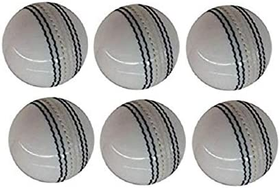 AnNafi Leather White Cricket Ball A Grade Handstitched White 6 product image