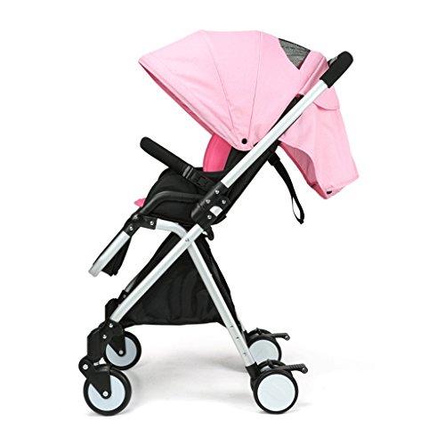 Poussettes légères portatives de bébé poussettes pour enfants (gris) (bleu) (rose) 86 * 48 * 105cm ( Color : Pink )