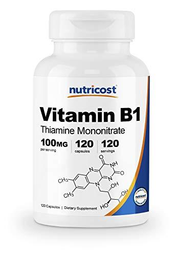 Nutricost Vitamin B1 (Thiamine) 100mg, 120 Capsules - Gluten Free and Non-GMO