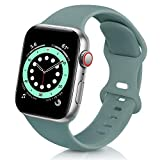 ZALAVER Bands Compatible with Apple Watch Band 38mm 40mm 42mm 44mm, Soft Silicone Sport Replacement Band Compatible with iWatch Series 6 5 4 3 2 1 Women Men Cactus 38mm/40mm S/M