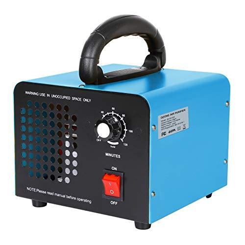 JOBYNA Generador de ozono O3 Purificador de aire de ozono, 20.000 mg/h, con temporizador, eliminador de olores habituales, para habitaciones, humo, coches y mascotas