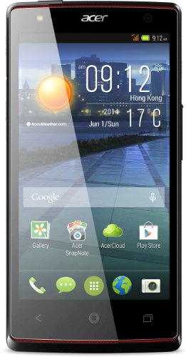 Acer Liquid E3 Plus Dual-SIM Smartphone (11,9 cm (4,7 Zoll) IPS 720p HD Display, 13 Megapixel Kamera, Quadcore Prozessor, 1,2GHz, 2GB RAM, 16GB interner Speicher, Frontblitz, Android 4.2.2) schwarz
