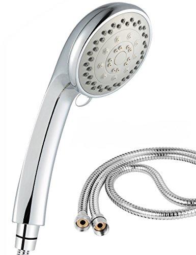 Seebo シャワーヘッド 節水 シャワー セット 高水圧 4段階モード 機能 バス用品 国際汎用基準G12 1.5Mステンレス製シャワーホース付き 取り付け簡単