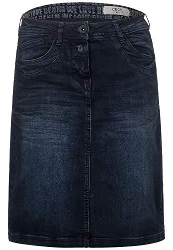 Cecil Damen 360693 Jeans Rock, Blue/Black Used wash, 44
