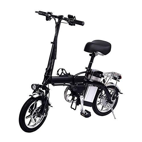 Bicicleta Eléctrica Plegable Adulto Plegable eléctrico for bicicleta con motor sin escobillas de 250W doble freno de disco de tres modos de hasta un 35 km / h máximo de 100 km Correr Bicicletas Distan