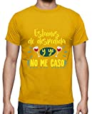 latostadora - Camiseta no Me Caso, para Hombre Amarillo Mostaza S