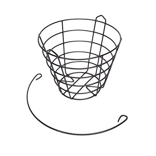 Favor 1 peça de cestas pequenas bolas de ferro para transporte, baldes de metal para prática de transporte, recipiente de armazenamento com alça (comporta 50 bolas)