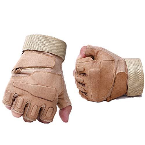 Fingerlose Handschuhe Handschuhe Herren Fingerlos Winter Motorradhandschuhe Herren Bikerhandschuhe für Männer Winterhandschuhe Herren Yellow,m