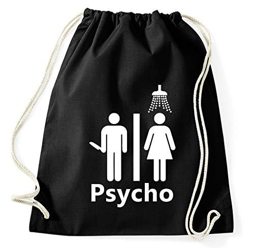 Styletex23 #2 Psycho Fan Turnbeutel Sportbeutel Gym Bag, schwarz