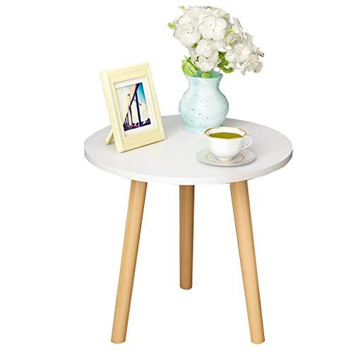 Table Basse Simple Nordique En Bois Massif Ronde Petite Table D'appoint Chambre Mini Table De Chevet Coin Canapé Européen (taille : 35cm)