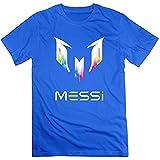 Camiseta con logotipo de Messi para hombre (talla M), color azul real PC. XXXL