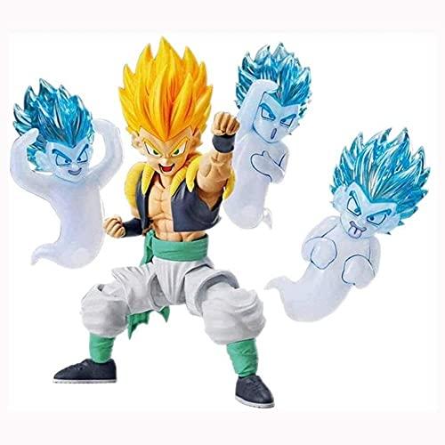 Figura de acción Figura de Anime Dragon Ball Figura de acción Montar Gotenks Super Saiyan Man 11cm Colección de Figuras Adornos Decoración Modelo Juguetes para niños Muñeca Juguetes de Regalo-Gotenks