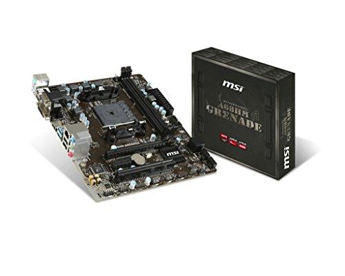 MSI AMD FM2+ A68H DDR3 SATA 6Gb/s USB 3.0 HDMI Micro ATX Motherboard (A68HM GRENADE)