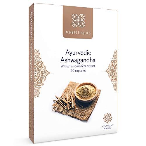 Ashwagandha | Ayurvedic | Healthspan | 60 Capsules | KSM-66 | Added Vitamins B6 & B12 | Vegan