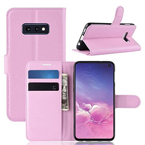"""Capa Capinha Carteira 360 Para Samsung Galaxy S10e Tela 5.8"""" Polegadas Case Couro Sintético Flip Wallet Para Cartão, Abre E Fecha s10 e - Danet (Rosa)"""