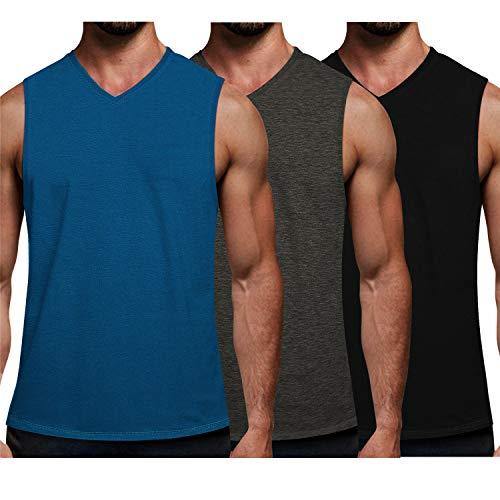 Camisa Sin Cuello Hombre  marca COOFANDY