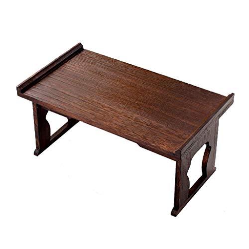 Tables Basse Basse Tatami D'appoint De Chambre Basse Pliable Baie Vitrée Chinoise Petit Bureau De Salon Moderne en Bambou Basses (Color : Brown, Size : 80 * 44 * 38cm)