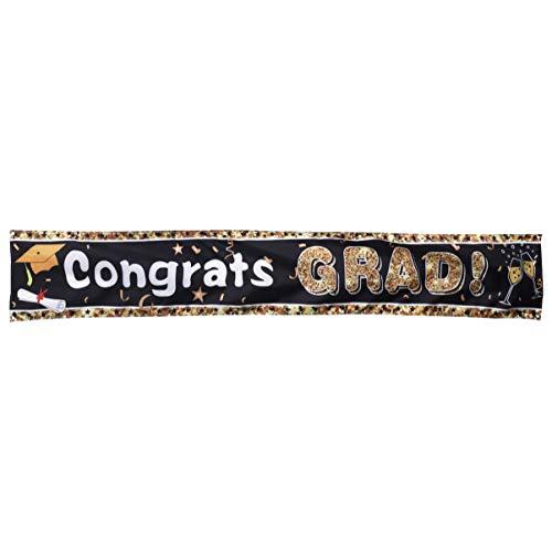 PRETYZOOM 2020 Banner de Graduación Felicidades Grad Banner Bunting Garland Sign 2020 Fiesta de Graduación Decoraciones Colgantes Suministros con Agujero 3 M