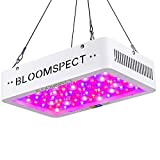 BLOOMSPECT 600W LED Grow Light: Full Spectrum for Indoor Hydroponics Greenhouse Plants Veg and Bloom (60pcs 10W LEDs)