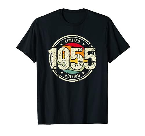 Retro 66 Años Nacido en 1955 Edición Limitada 66 Cumpleaños Camiseta