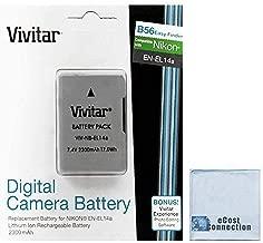Vivitar EN-EL14A EN-EL14 2300mAh Replacement Li-ion Battery For Nikon D3100, D3200, D3300, D5100, D5200, D5300, D5500, Coolpix P7000, P7100, P7700, P7800, Df Cameras & other Models + Microfiber Cloth