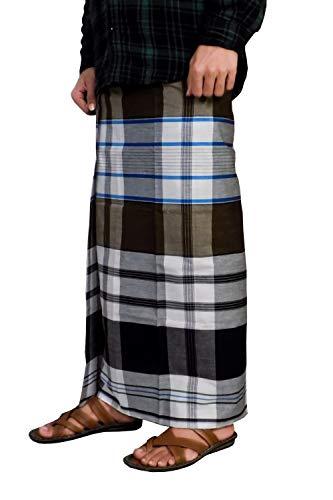 Riyashree men's cotton lungi for men free size 2 meter MenLungi 017