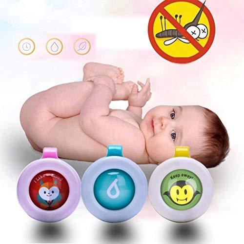 Voiks 1pzs Boton Repelente de Mosquitos Hebilla para Bebe ninos Repelente Anti-Mosquitos...