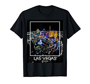 Las Vegas Nevada - City Summer Graphic - Welcome to LV Strip T-Shirt from Home State Pride City Skyline Design Co.