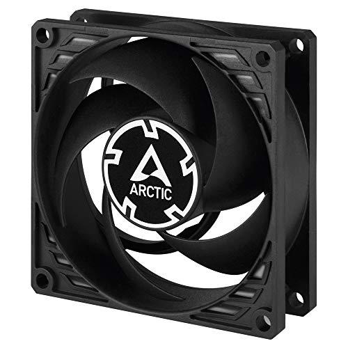 ARCTIC P8 Silent - 80 mm Besonders leiser Lüfter optimiert für statischen Druck, quasi lautloser Lüftermotor, Gehäuselüfter, PC, 1600 U/min. - Schwarz