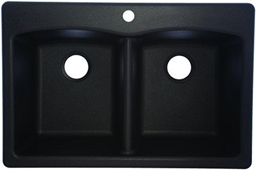 """Franke EDOX33229-1 Sink, 33"""" x 22"""" x 9"""" deep, Onyx"""