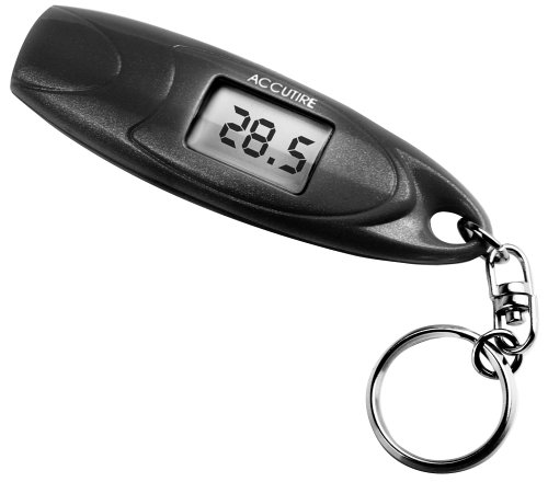 Accutire MS-4652B Digital Keychain Tire Gauge,Black