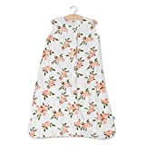 Little Unicorn – Watercolor Roses Cotton Muslin Sleep Bag | 100% Cotton | Super Soft and Lightweight | Baby | Size Medium: 6-12 Months | Machine Washable | 1.1 TOG