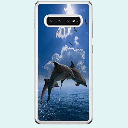 Carcasa para Samsung Galaxy S10, diseño de delfines salvajes
