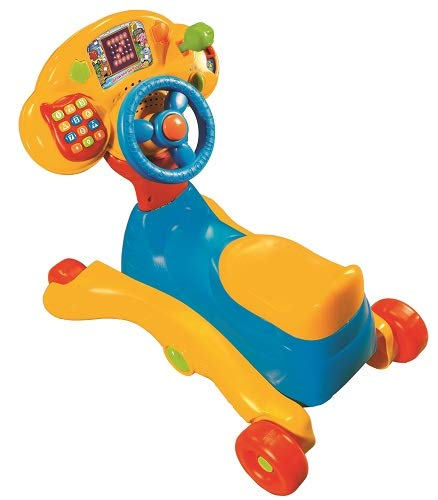 VTech – Grow and Go Ride On – Porteur Version Anglaise (Import Royaume-Uni)