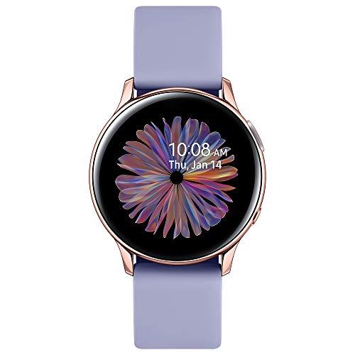 Samsung Galaxy Watch Active2, Fitnesstracker aus Aluminium, großes Display, ausdauernder Akku, wassergeschützt, 30 mm, Bluetooth, Violett