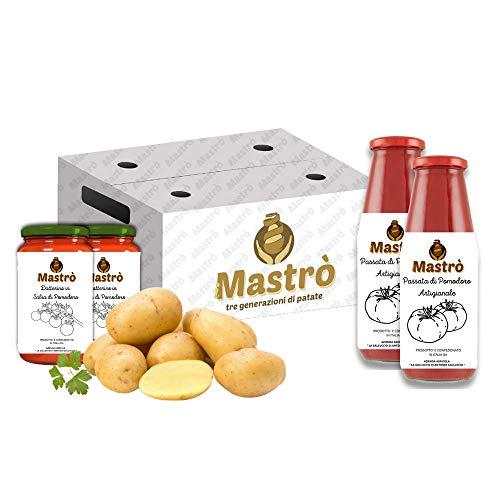 iMastrò Patate Box Patate Pasta Gialla Buccia Passata di Pomodoro Datterini barattolo Fresche Box Da Cucinare Sacco Made In Italy Patatine Fritte Taglio Chips