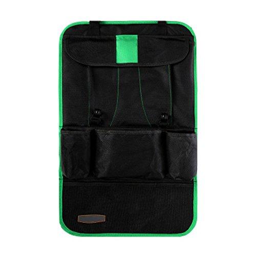 Alamor Auto Terug Auto Zitzak Organizer Houder Multi Pocket Reizen Opslag Hangende Tas Green+Black