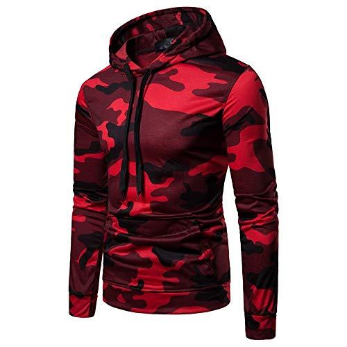 Kapuzenpullover Herren Camouflage, Holeider Hoodies Langarm Sweatshirt Pullover Tops Herbst Winter Lässig