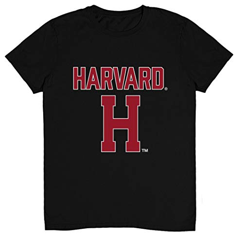 Camiseta Harvard University Apparel Harvard Crimson com logotipo do time NCAA, Harvard 1 Preto, XL