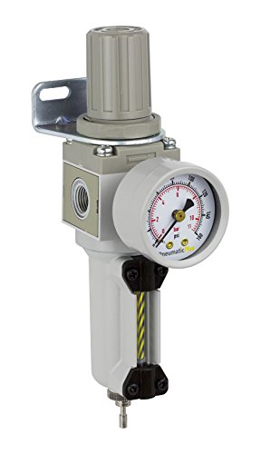 PneumaticPlus SAW2000M-N02BG-MEP Miniature Compressed Air Filter Regulator Combo Piggyback 1/4