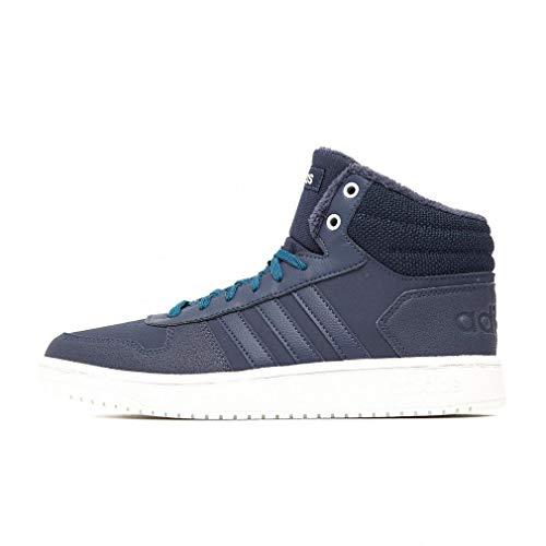 adidas Damen Hoops 2.0 Mid Basketballschuhe, Blau (Trace Blue F17/Trace Blue F17/Active Teal), 36 2/3 EU (4 UK)