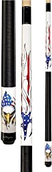 Players D-PEG American Flag Flames Professional Pool Cue