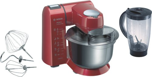 Bosch MUM82R1 Küchenmaschine mit Metall-Gehäuse rot lackiert