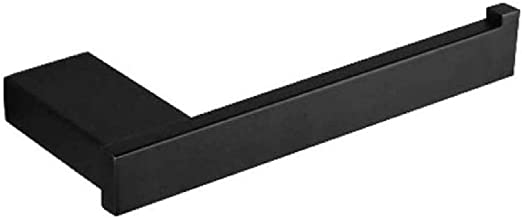 XYZMDJ Metalen toiletpapierhouder-zwart toiletpapierhouder roestvrij staal ronde muurbevestiging roestvrije badkamerhouder...