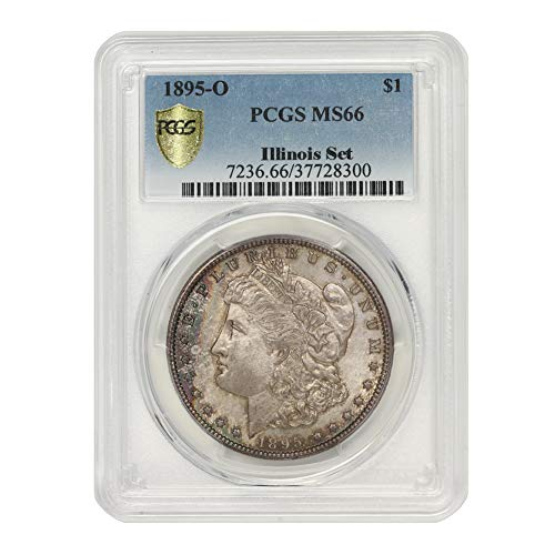 1895 O American Silver Morgan Dollar MS-66 Illinois Set by CoinFolio $1 MS66 PCGS